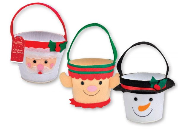 Cute Christmas.Cute Christmas Character Felt Buckets Ideal For Sweets Or Small Gifts