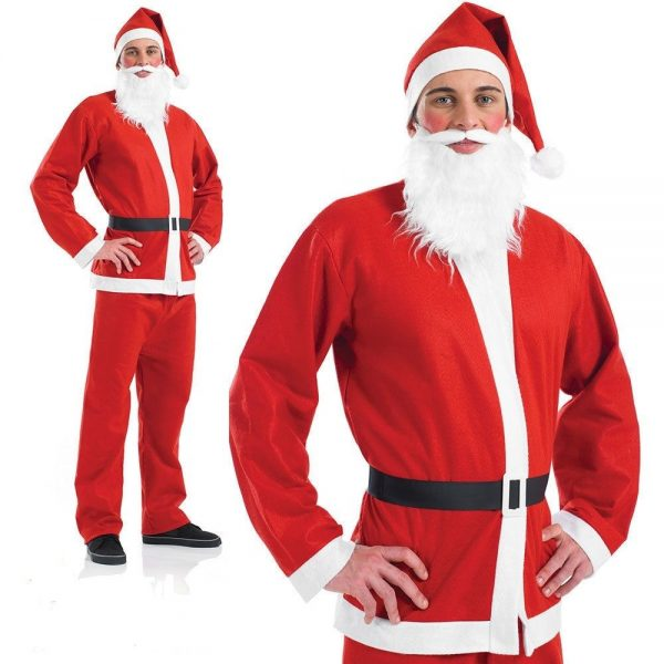 Adults Santa Claus Suit, Father Christmas Fancy Dress Costume Xmas Outfit - Adults Santa Claus Suit, Father Christmas Fancy Dress Costume Xmas