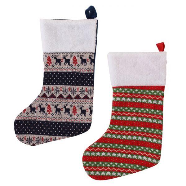 Vintage Christmas Stockings.Knitted Christmas Stocking Vintage Xmas Assorted Design