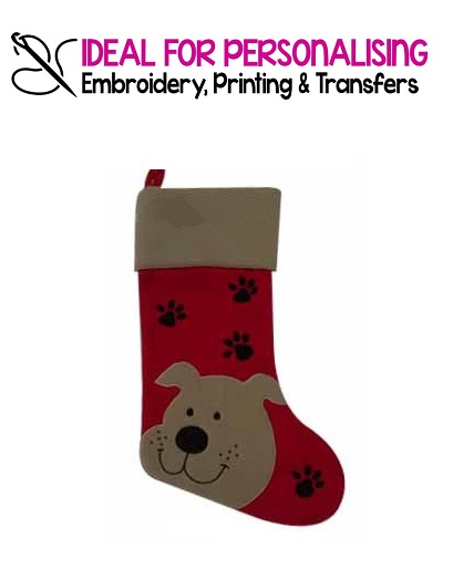 Luxury Christmas Stockings Uk.Luxury Deluxe Pet Dog Christmas Stocking With Inside Lining And Hanging Loop