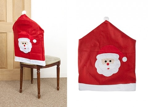 Amazing Christmas Felt Santa Chair Cover Squirreltailoven Fun Painted Chair Ideas Images Squirreltailovenorg