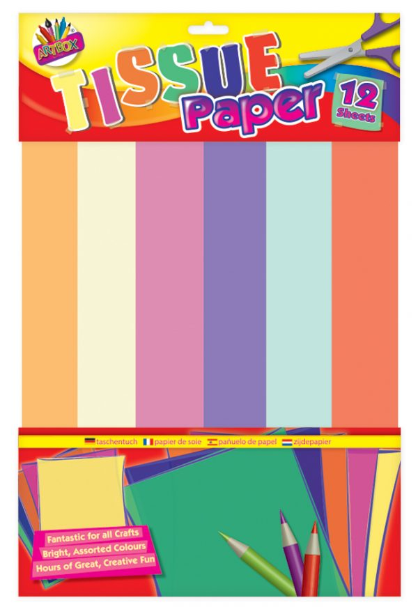 Assorted Coloured Tissue Paper Sheets